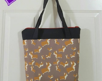 Corgi with Bow Shoulder Purse or Lunchbox