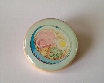 ramen noodle soup pinback pin from Ponyo