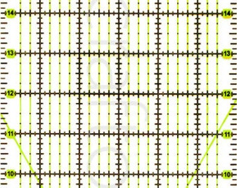 """24"""" x 6"""" Rectangle Quilting Patchwork Grid Ruler Imperial"""