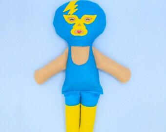 Lucha Libre Wrestler Doll/ Luchadore Plushie / Baby Shower Gift