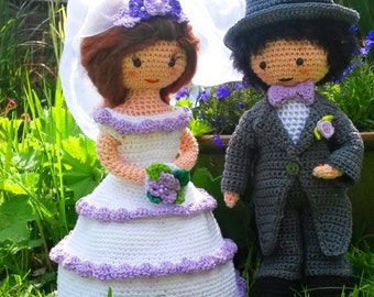 Crochet pattern wedding couple