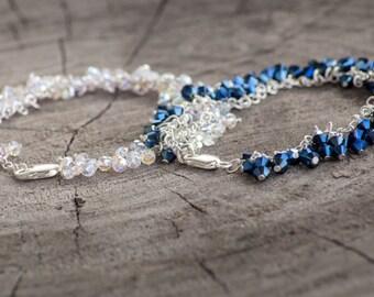 Something Borrowed Something Blue - Handmade - Swarovski crystal cluster jewelry
