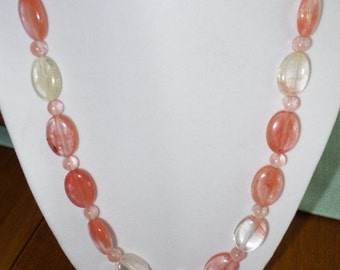 Watermelon Tourmaline necklace.