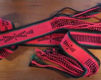 Navajo Woven Wool Sash Belt
