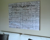 Large Music Wall Art: Title (Distressed Canvas)