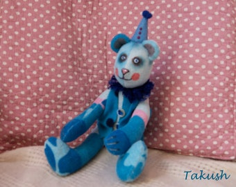 """Teddy Bear """"Circus Bear"""", fabric artistic toy"""