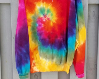 hellen tie dye hoodie bunte new hipster tumblr. Black Bedroom Furniture Sets. Home Design Ideas