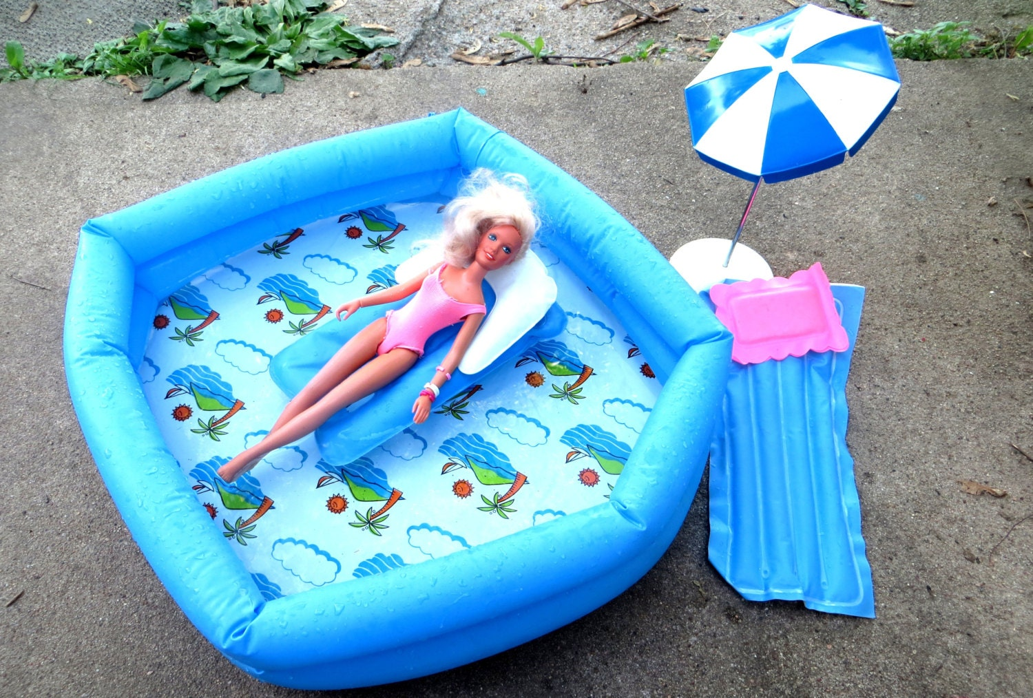 1970 39 S Barbie Blow Up Pool And Accessories By Buzzardbillys