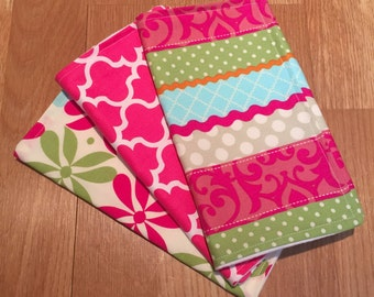 Boutique Burp Cloth Set, Baby Girl, Baby Shower Gift