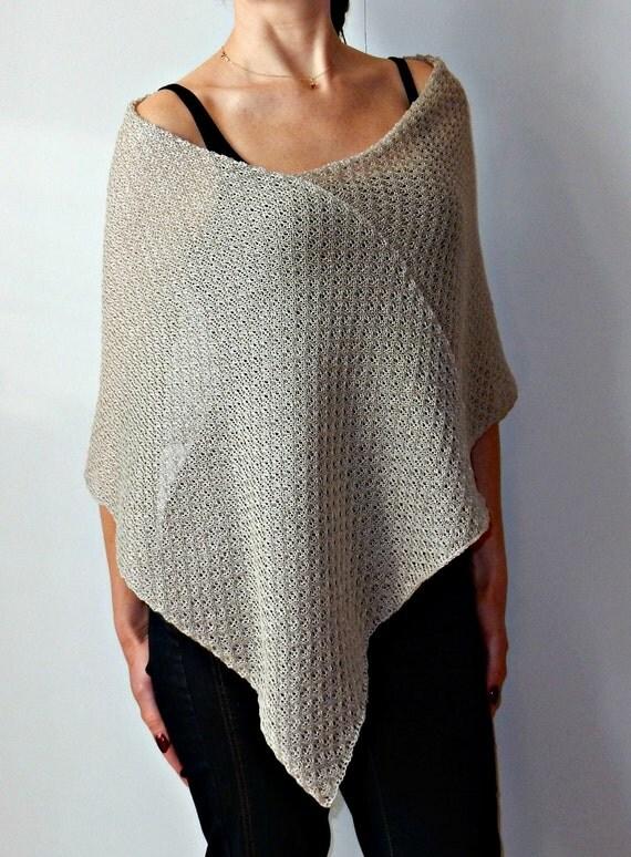leinen grau cape poncho asymmetrische cape wrap lace bridal. Black Bedroom Furniture Sets. Home Design Ideas