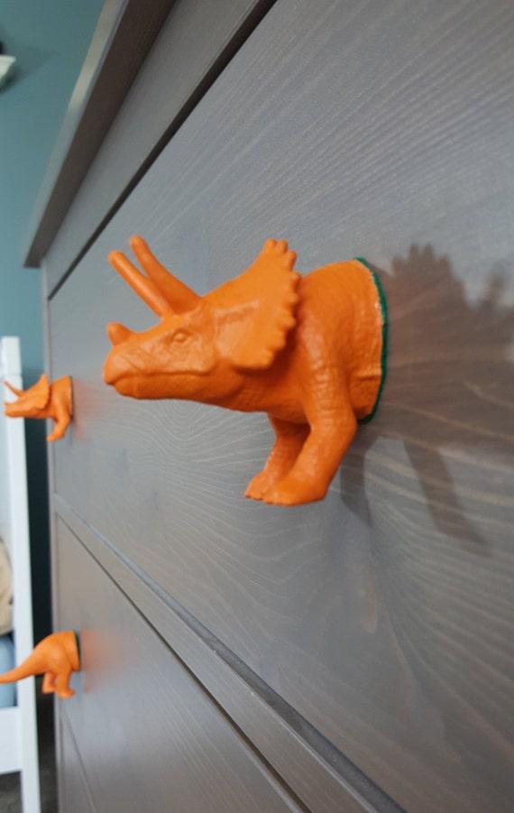 Modern Dresser Knobs Dinosaur Drawer Pulls Dinosaur By Monkagoods