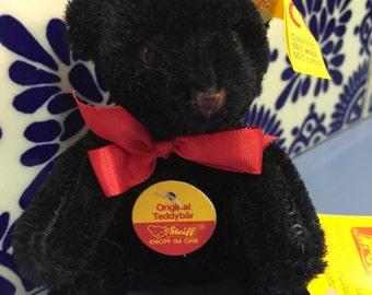 Vintage Steiff Black Teddy Bear 4 inches/12 cm