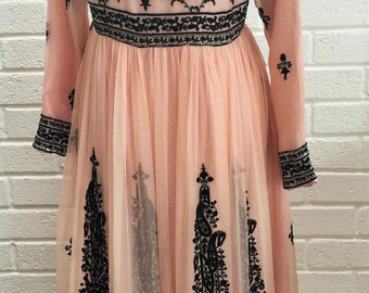 Vintage 1970's Chiffon dress. UK size 10