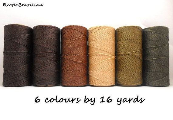 macrame supplies macrame supplies set of 6 colours x 16 yards waxed polyester 3226