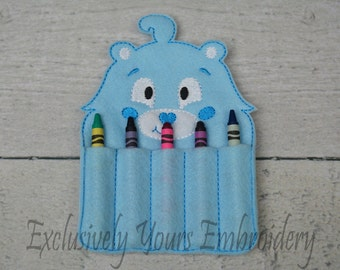 READY TO SHIP Carebear Inspired Crayon Holder, Toddler Arts and Crafts, Back To School, Travel Case
