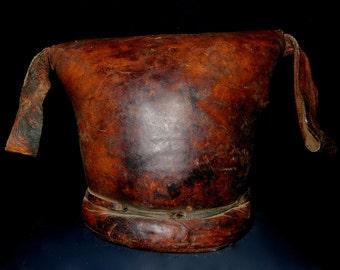Ethiopian Leather Padded Headrest Gurage Tribal African
