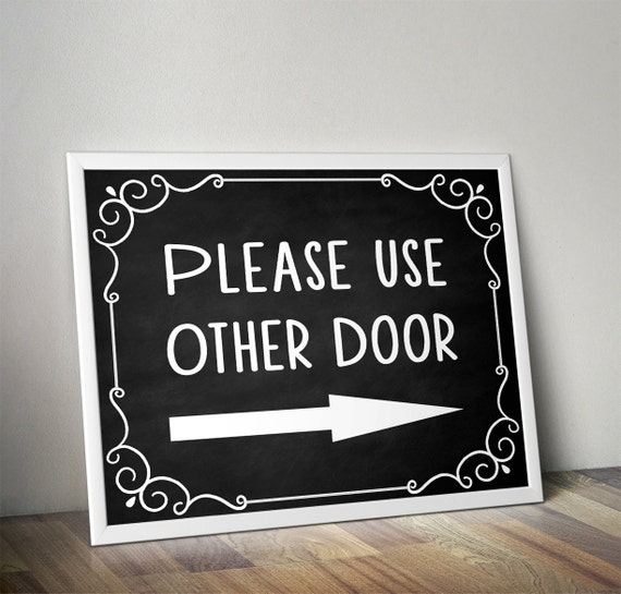 Please Use Other Door, Please Use Front Door, Front Door Sign, Front Door  Decoration, Custom Door Sign, Personalized Front Door Sign, DIY