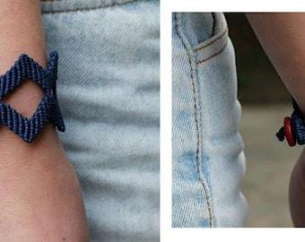 Double Zig Zag - Macrame geometric bracelet!!!