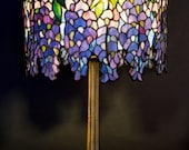 Pony Wisteria Tiffany stained glass lamp. Small Wisteria. Bestseller lamp Tiffany. Handmade Stained glass