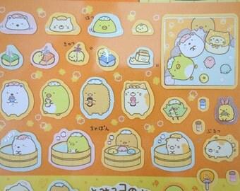 Sumikko Gurashi Japanese mochi creature bath edition stickers - kawaii bear - cat - penguin - tonkatsu - corner animals - San X - tub