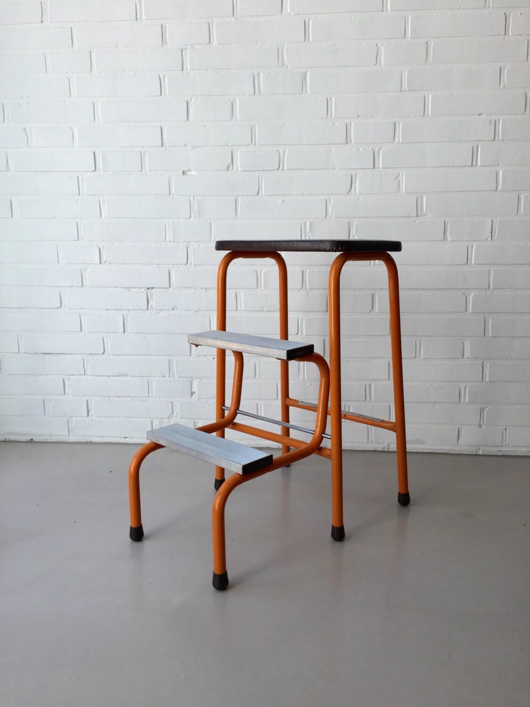 vintage trittleiter tritt hocker 50er 60er klappbar. Black Bedroom Furniture Sets. Home Design Ideas