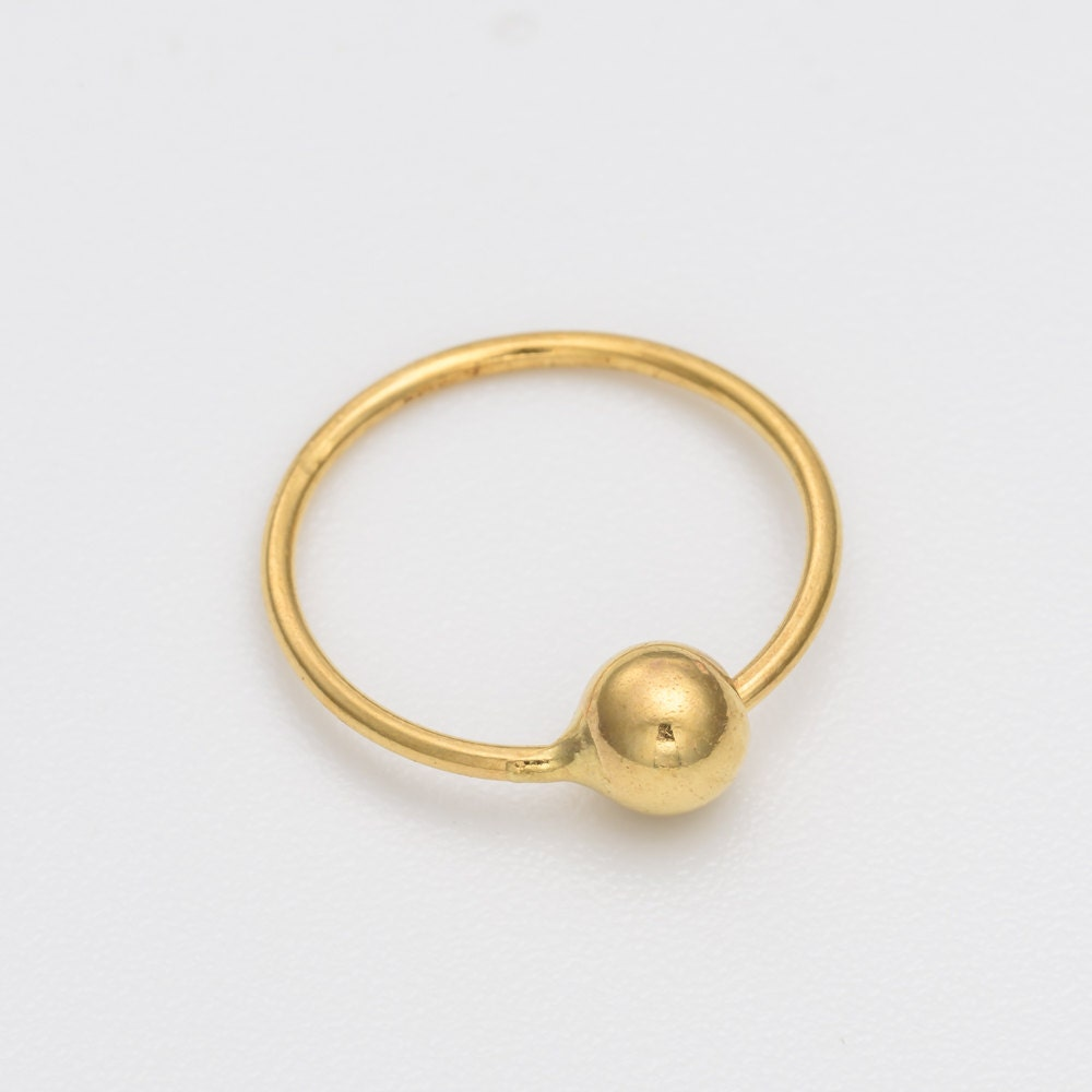 18k gold nose ring real gold nose ring nose piercing tiny