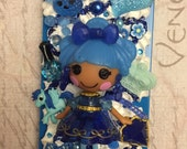 LaLaLoopsy Love ALL THINGS BLUE iPhone 5 / 5s Kawaii Decoden charmed Cell Phone Case! Sapphire!