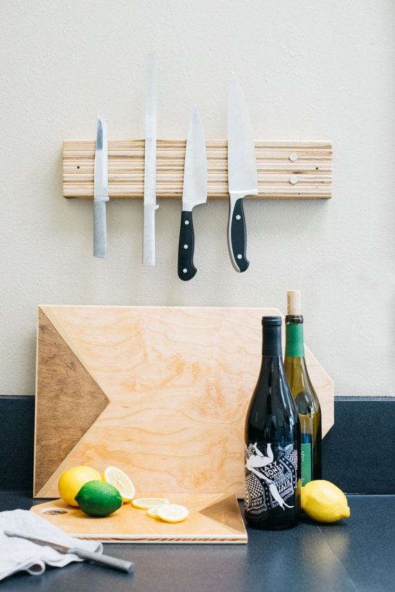 Stacked Magnetic Knife Rack