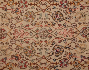 114.9 x 76.3 inches, Old BULGARIAN KILIM, RUG, Classical Desig with cotton warp , Free shipment with Ups.