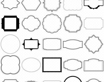 25 Digital Frames Clip Art, Frames Clipart, Classic frames, Scrapbooking Frames, Basic Frames, Digital download, Clipart Frames, Card Frames