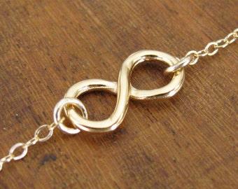 Infinity bracelet, gold bracelet, jewelry, goldfilled bracelet, gold infinity bracelet, chain bracelet, eternity bracelet