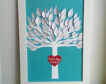 Wedding Gift - First Anniversary Gift - Personalized 3D Song Tree - Made with your song - Paper Anniversary for him - Gift for her - Framed