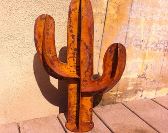 Lil Saguaro Rusty Metal Yard Art