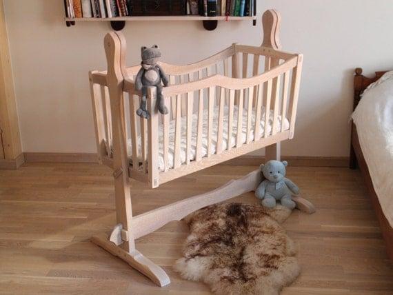 Baby Cradle Handmade Solid Wood Swinging Cradle By