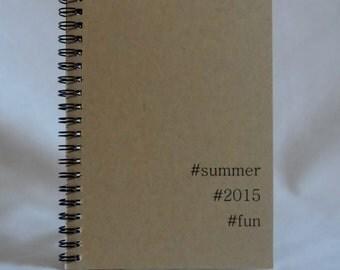 Summer Fun Hashtag Journal, Notebook,