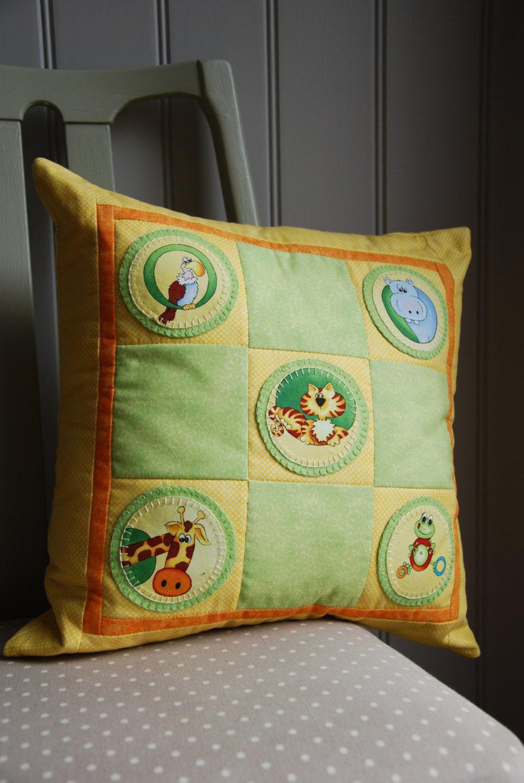 Animal Pillows For Nursery : Animal Applique Cushion Children s Pillow Nursery Gift