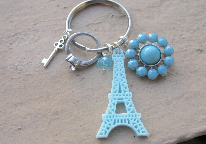 Charm Keychain Cute Keychain Blue Keychain by EyeCandiByCandi