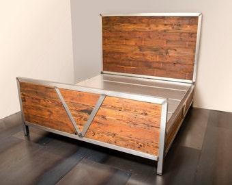 Bed - Reclaimed Fir/Industrial Steel