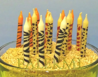 Animal Print Birthday Candles 24 Count Package