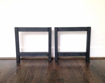 Two-Shelf Metal Coffee Table Legs