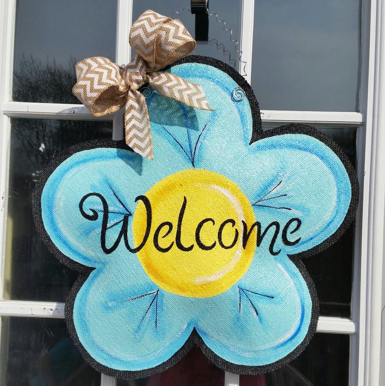 28+ [flower template burlap door hanger flower]