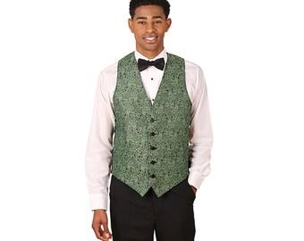 Men Pistachio Symphony Jacquard Vest