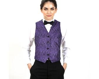 Women's Purple Metallic Vest
