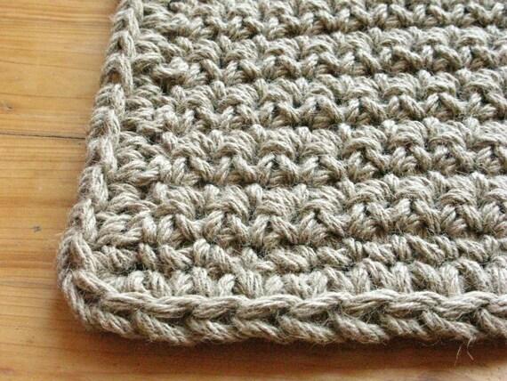 crochet jute door rug jute rope rug doormat welcome rug. Black Bedroom Furniture Sets. Home Design Ideas
