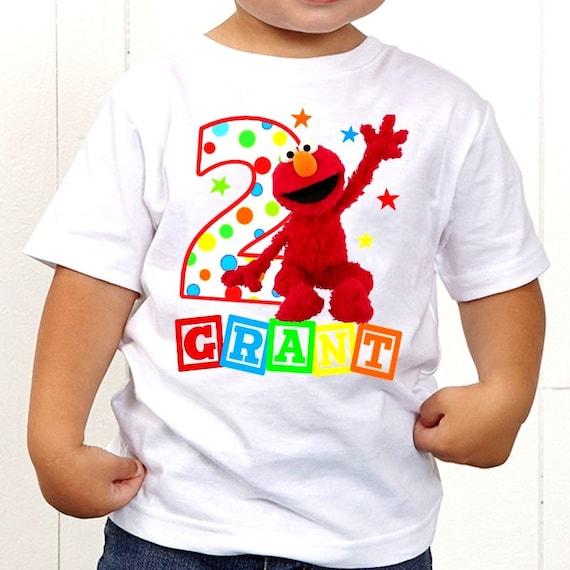 Elmo Sesame Street T-Shirt ~ Elmo Birthday Shirt ...