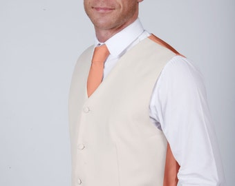 Peach Wedding / Prom Waistcoat by Matchimony with Matching Items Available