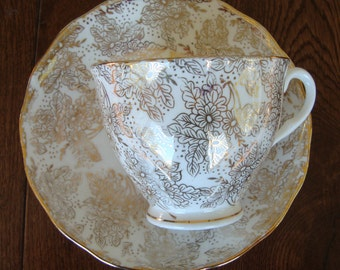 Colclough Bone China Made in England - Vintage Tea Cup and Saucer