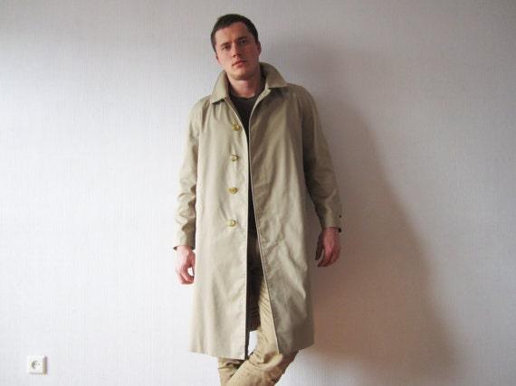 vintage burberrys trenchcoat herren khaki grau pea coat. Black Bedroom Furniture Sets. Home Design Ideas
