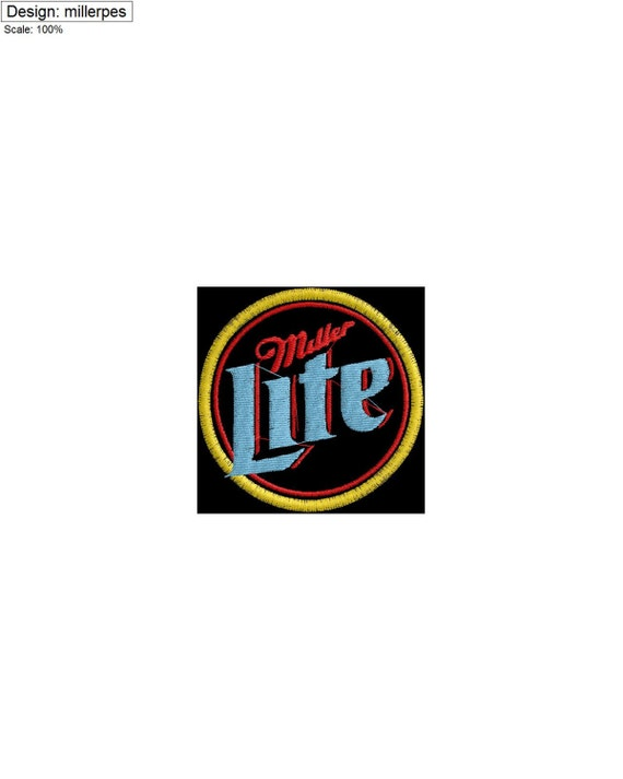 Miller Light Beer Logo by LOTSOFEMBROIDERY on Etsy