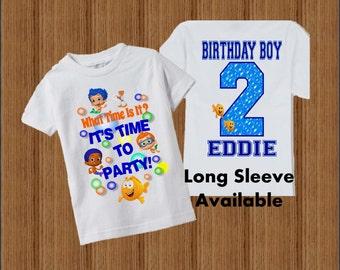 Bubble Guppies Birthday Shirt - Bubble Guppies Boys Birthday Shirt